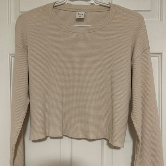 Tna Oversized Cropped Thermal (CREAM)